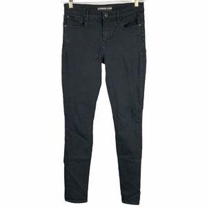 Express Jeans Black Mid Rise Legging Jeans -449